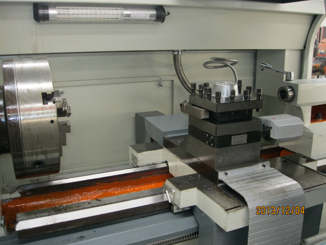 Big Spindle Bore Pipe Threading CNC Lathe