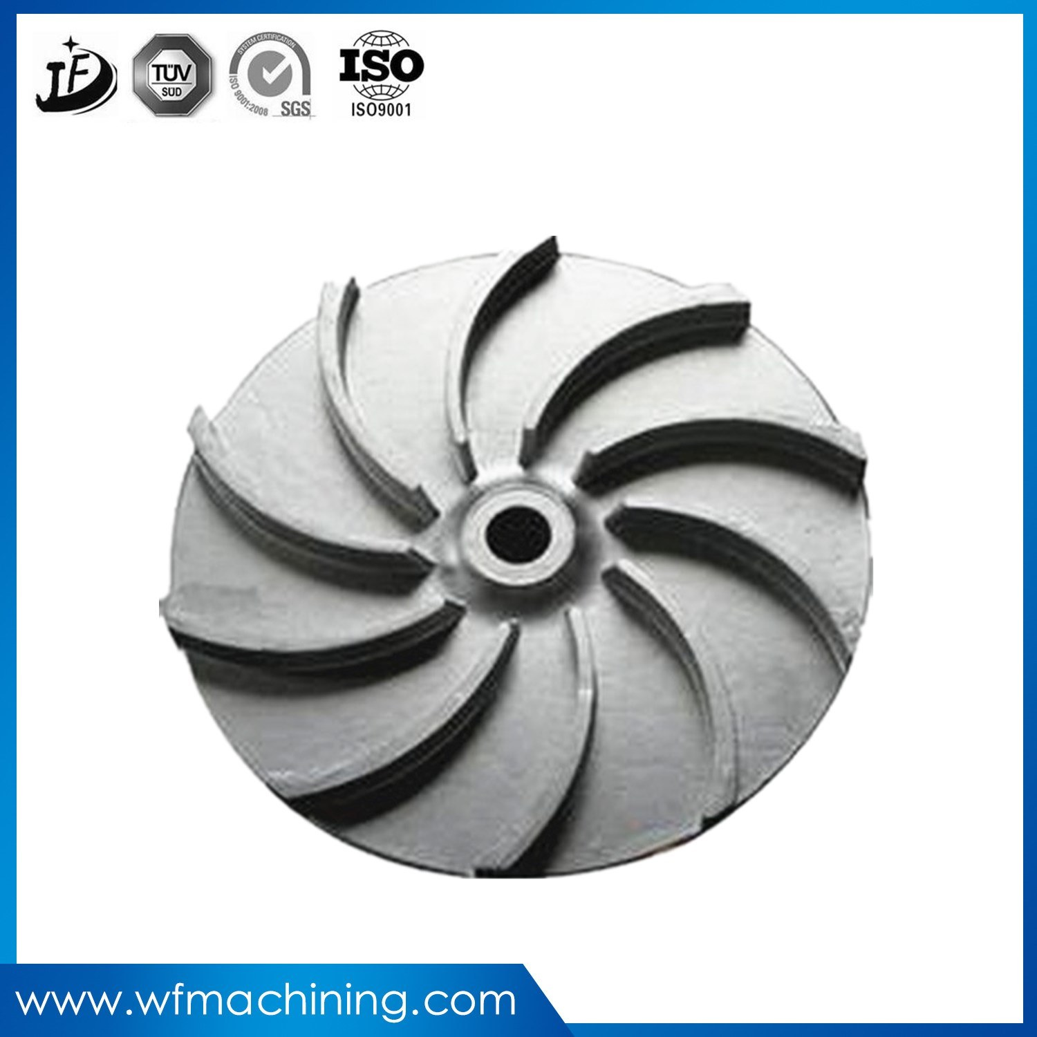Investment Casting Precision Pump Impeller with Metal Processing and Machining