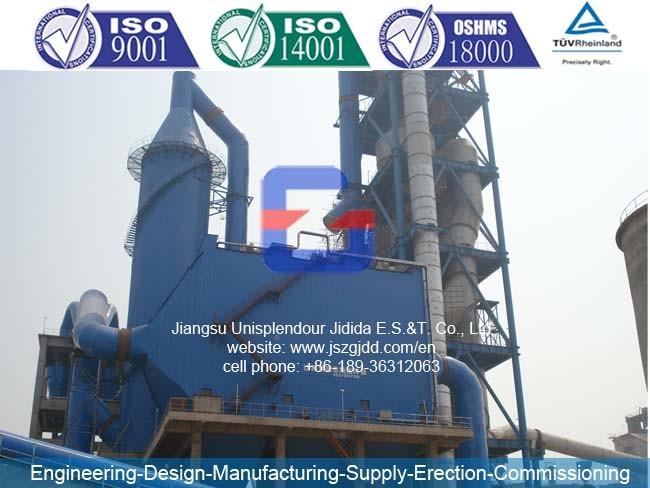 Jdmc152X2 Pulse Jet Bag-Filter Dust Collector for 2000t Cement Plant Kiln Rear End