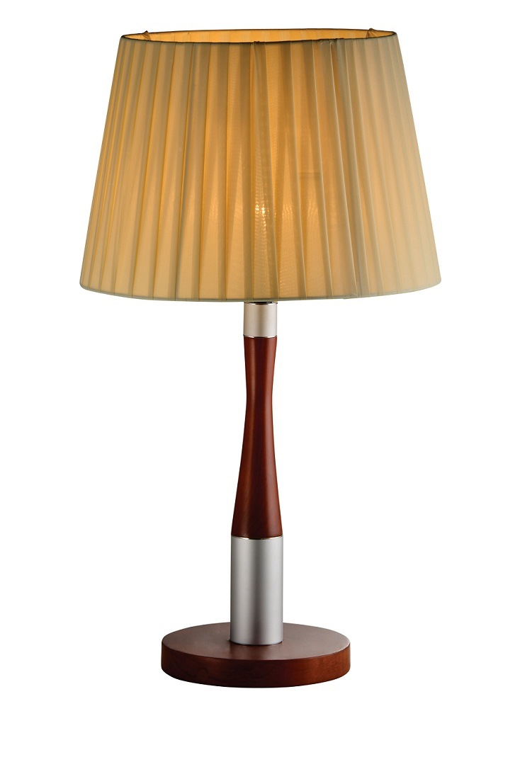 Table/Desk Lamp with Fabric Shade for Bedside Decorative Phine Design E27/E26 Lampholder Pn#Pd0025-01