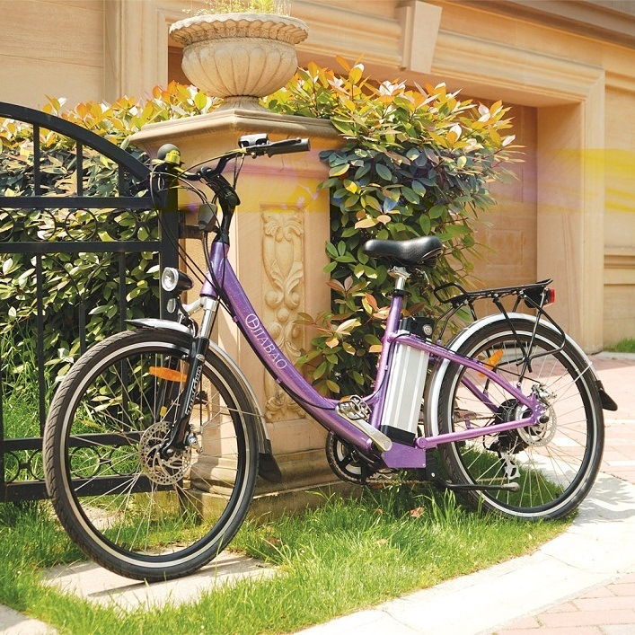 Alloy Lady City Electric Motor Vehicle Battery Powered E-Bicycle (JB-TDF02Z)