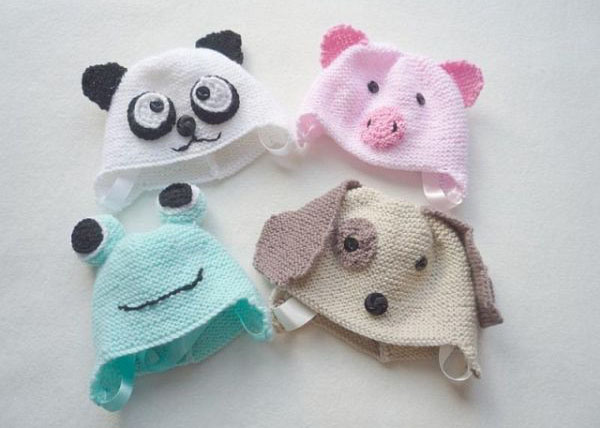 Knitting Patterns For Baby Animals : Free Knitted Animal Hat Patterns For Kids