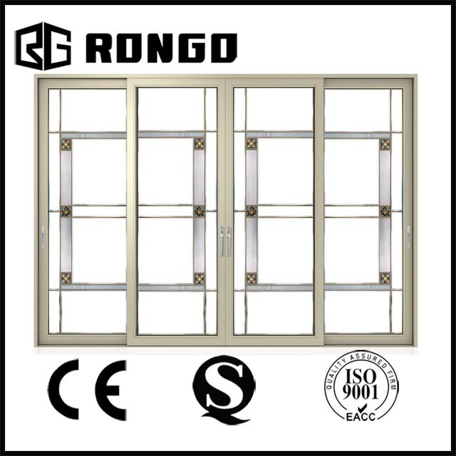 Foshan Manufacturer Double Tempered Glass Sliding Door