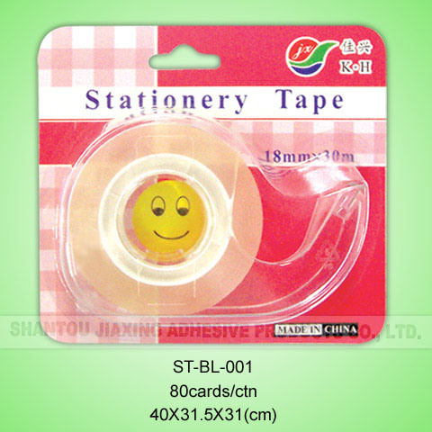 18mmx20m Stationery Tape with Dispenser in Blister Card