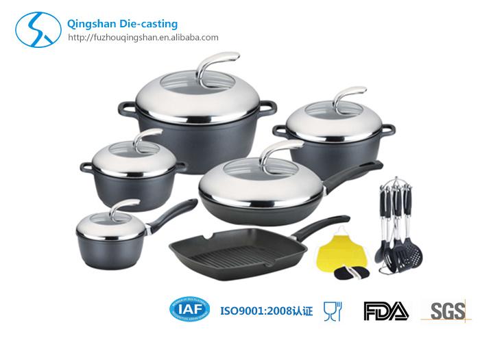 13PCS Ceramics Whitford Non-Stick Aluminum Cookware Set