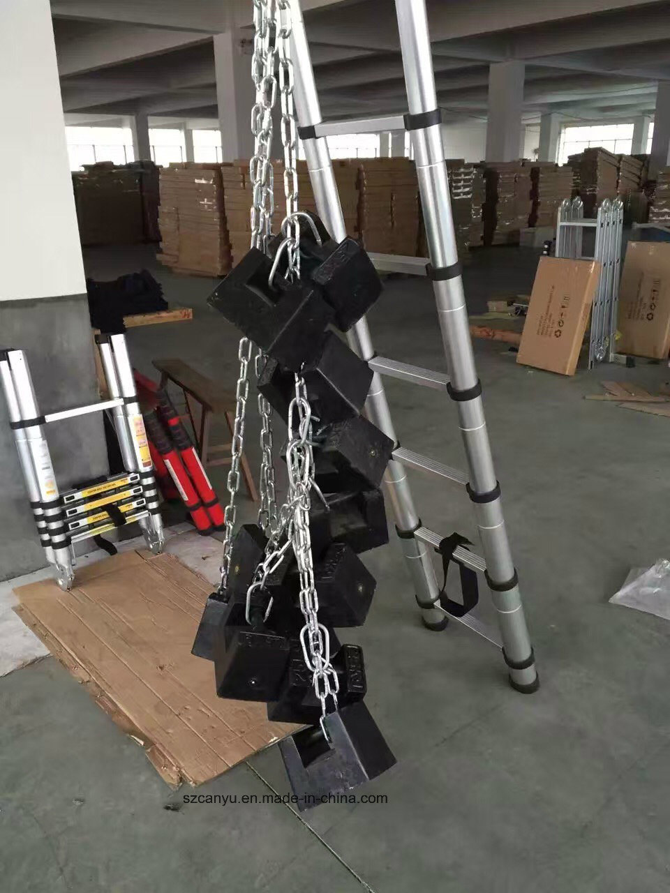 2.6m/3.2m/3.8m En131-6 Telescopic Ladder, Aluminum Step Ladder, Ladder Aluminum