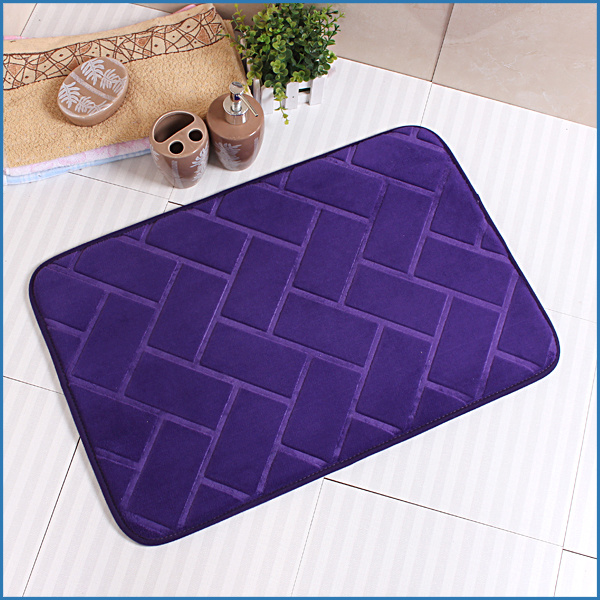 Low MOQ Memory Foam Embossed Bathroom Bath Set Mat