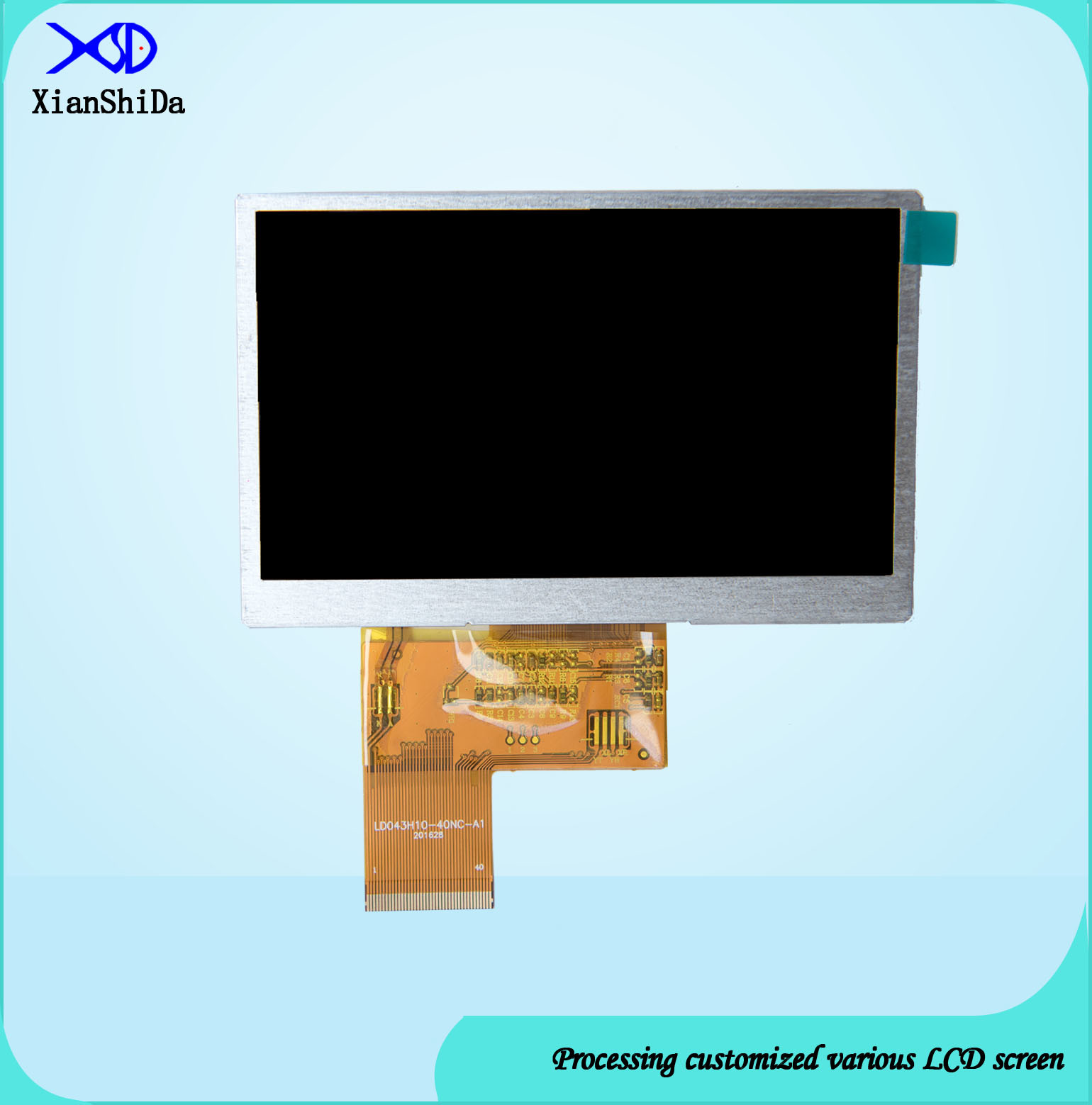 1000CD/M&Sup2 High Brightness 4.3 Inch TFT LCD Screen 480 (RGB) X272 Resolution