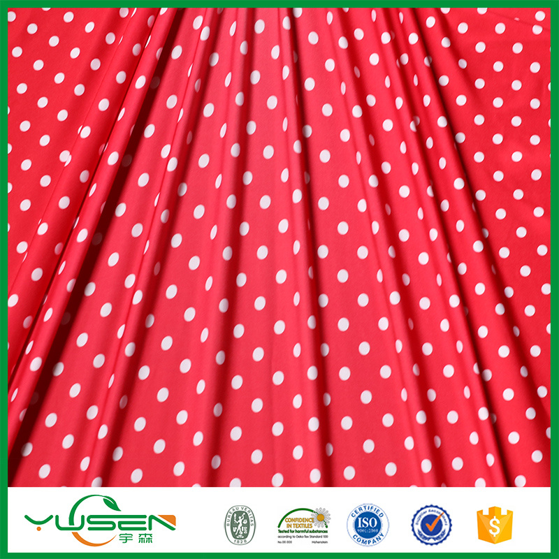 Print Polka Dots Spandex Fabric for Dress