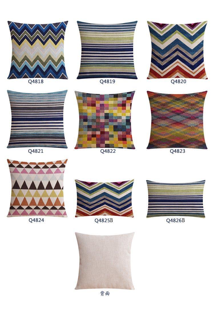 Reactive Printing Reasonable Cotton Linen Decorative Pillow Cases
