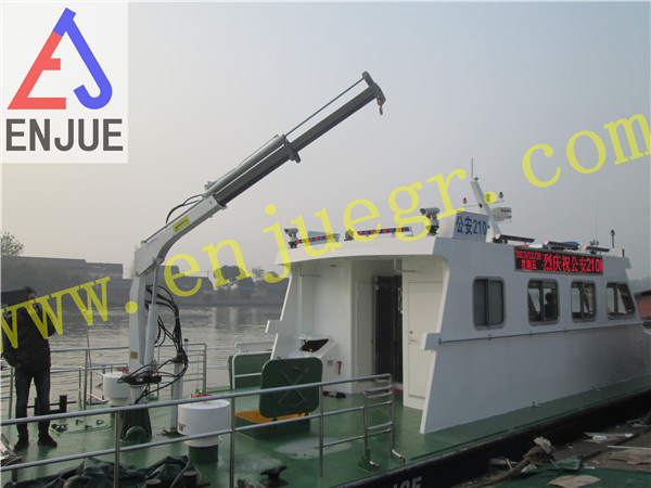 1t 8m Hydraulic Telescoping and Folding Arm Offshoore Crane