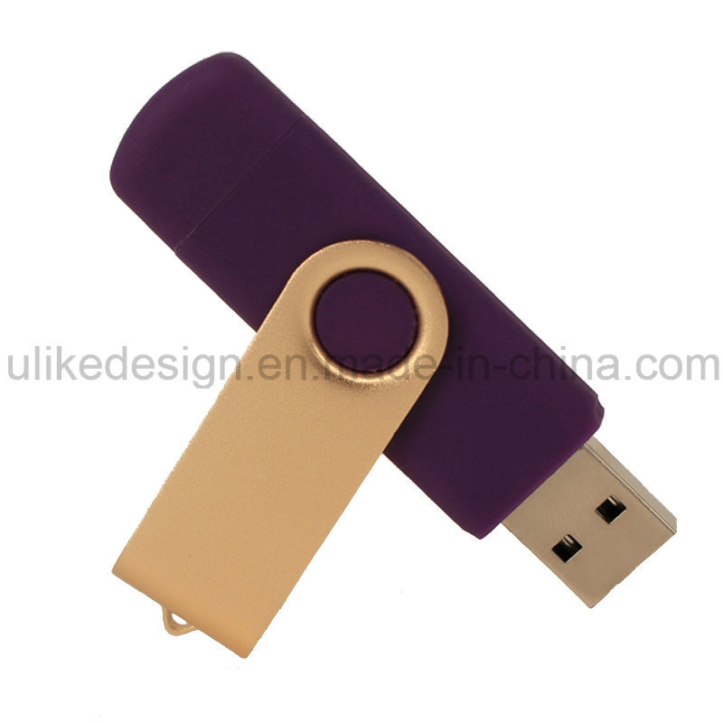 Hot Sale Swivel Plastic Promotion Gift OTG USB Flash Drive (UL-OTG016)