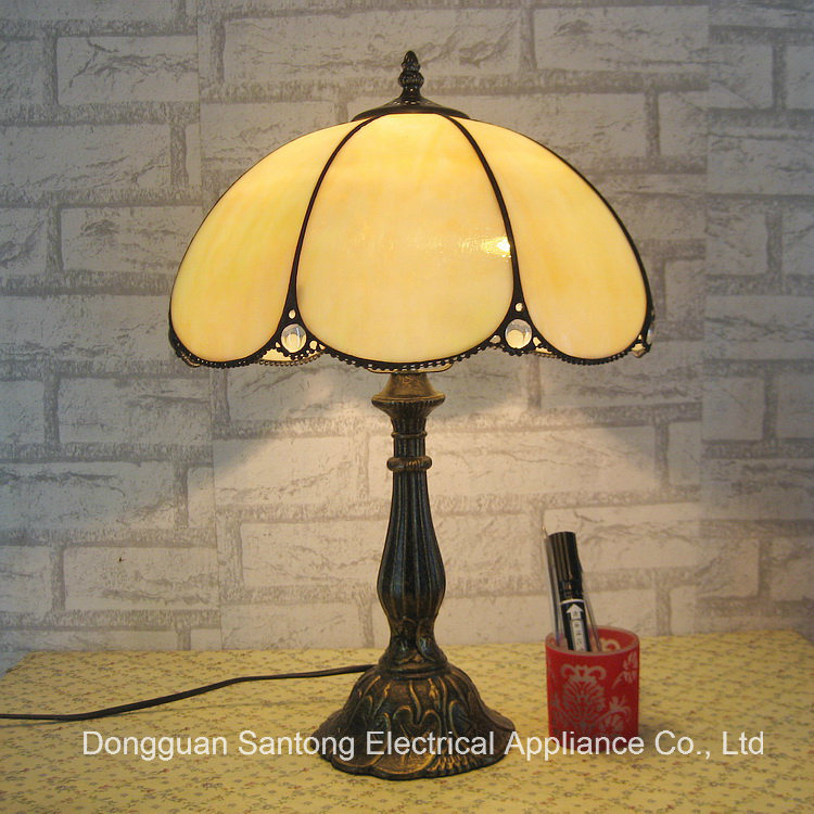 LED Tiffany Table Lamp Transparent Glass