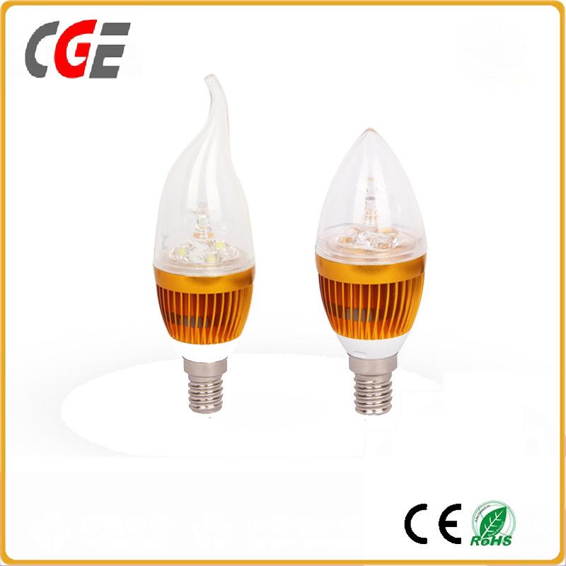 Flame Shape E12 6W LED Candle Light Bulb