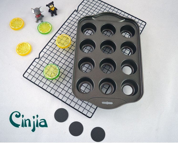 Non-Stick Remove Bottom 12-Cup Round Cake Pan