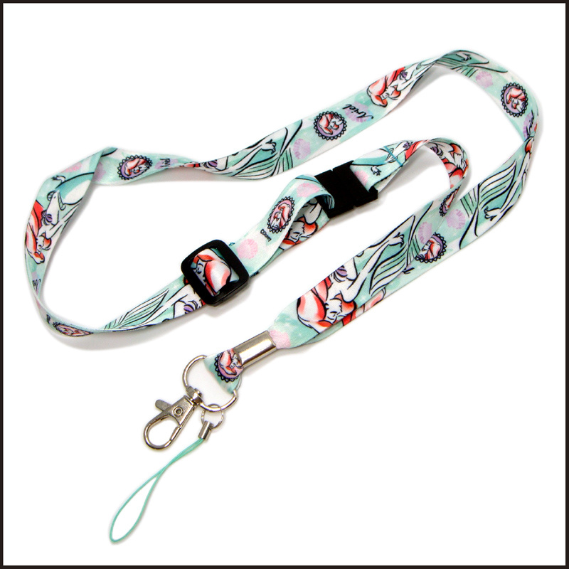 Decorative Dye Sublimated/Heat Transfer Custom Lanyard with Free Setup
