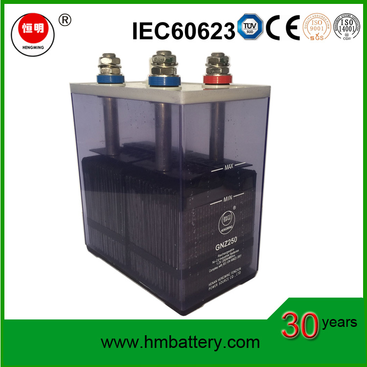Nickel Cadmium, Ni-CD Medium Rate Storage Batteries Kpm250 1.2V, 250ah) for UPS Uninterruptable Power Supply and Lighting