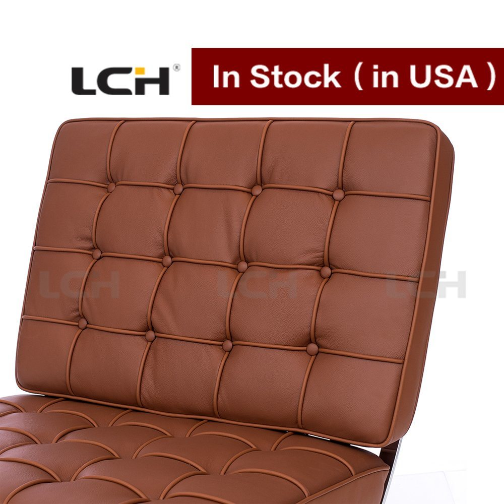 Home Furniture Brown Colour Barcelona Chair in Stock