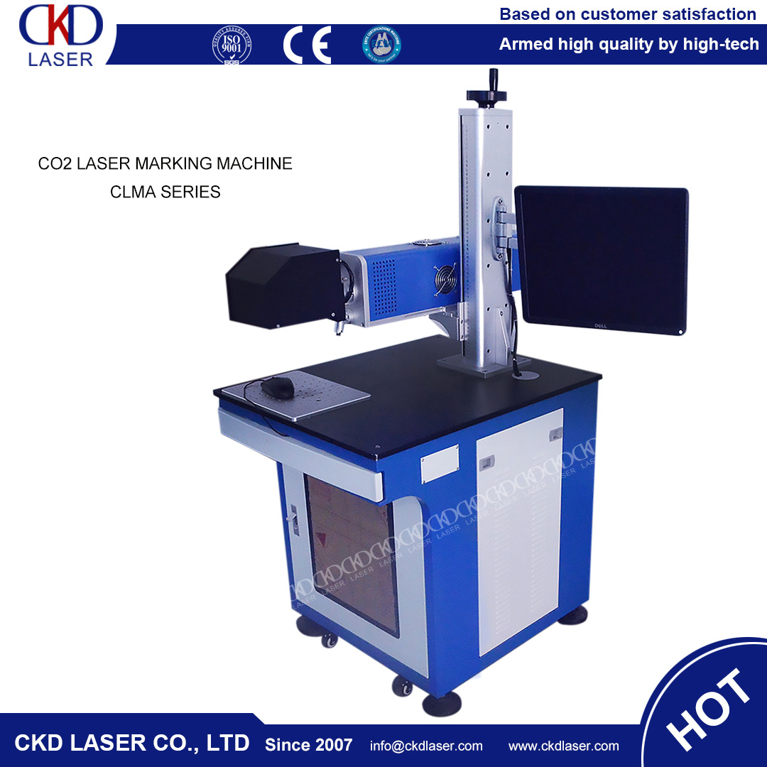 CKD Laser Hot Sale 50W CO2 Laser Marking Machine for Nonmetal Engraving