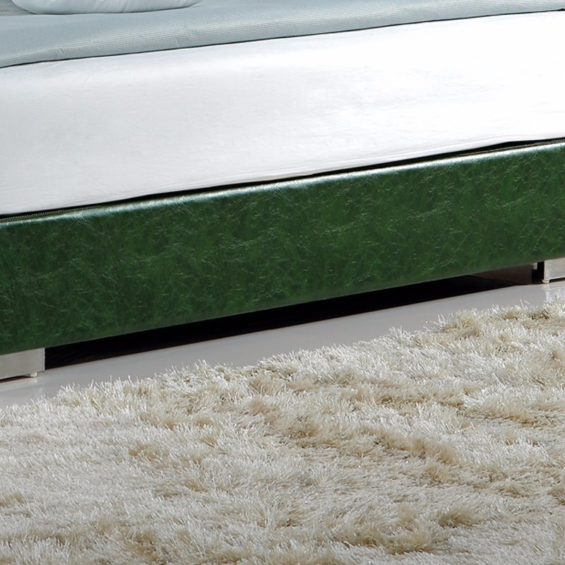 Green Color Leather Bed for Bedroom Use (FB3070)
