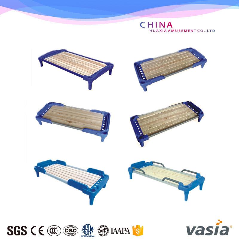 Single Bed Design Factory Safety Plastic Cloth Furniture Children Bed for Kindergarden