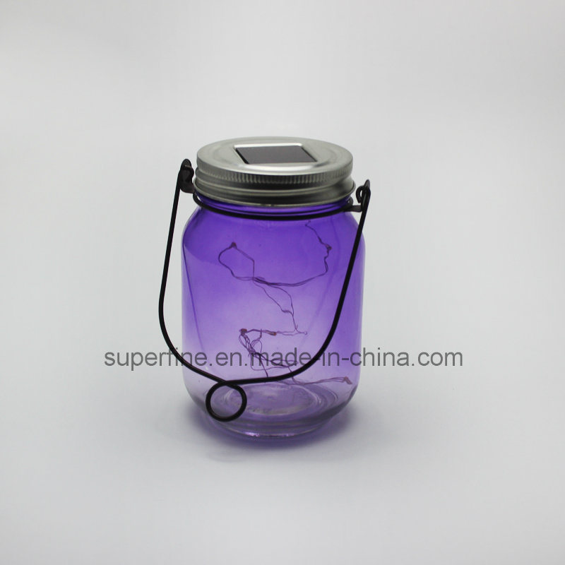 Star Flickering Rice Lights in Solar Jar for Garden Docoration