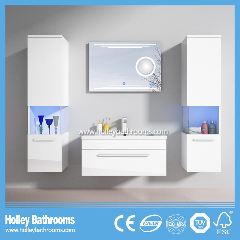 Selling Europe Magnifier New LED Light Touch Switch High-Gloss Paint MDF Furniture Magnifier Bathroom Vanity-D9056b