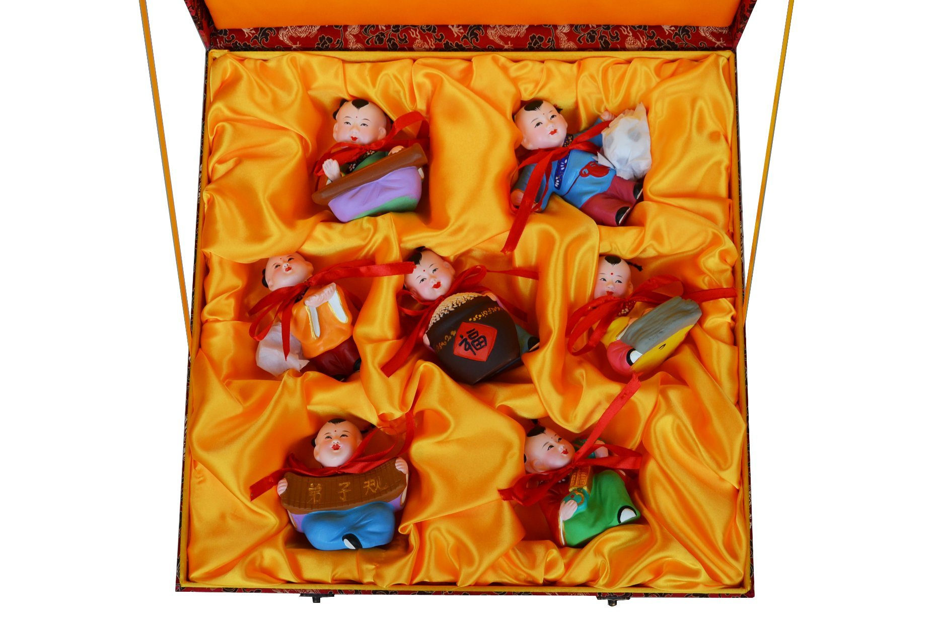 Handicraft, 1 Package of Total 7 Dolls with Chinese Culture