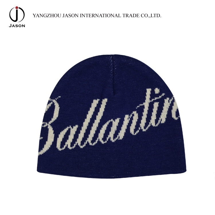 Jacquard Knitted Hat Winter Jacquard Beanie Winter Hat Jacquard Toque Acrylic Knitted Hat