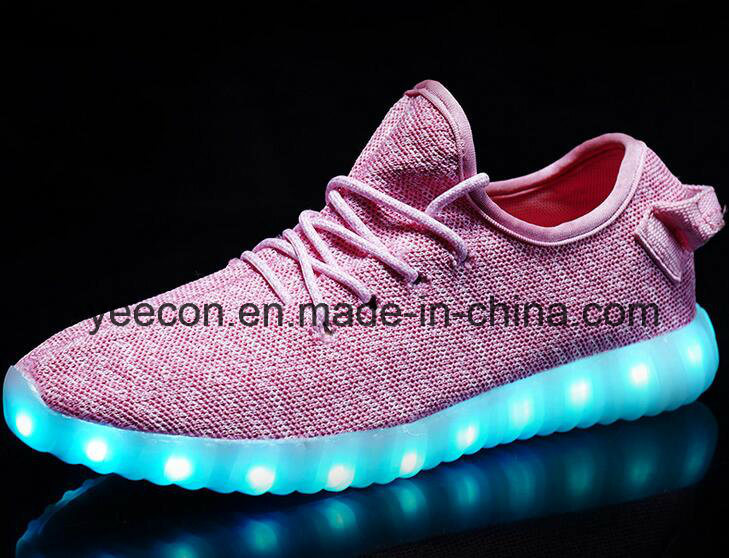 Wholesale Shoes USB Charger Light up LED Shoes for Women/Men