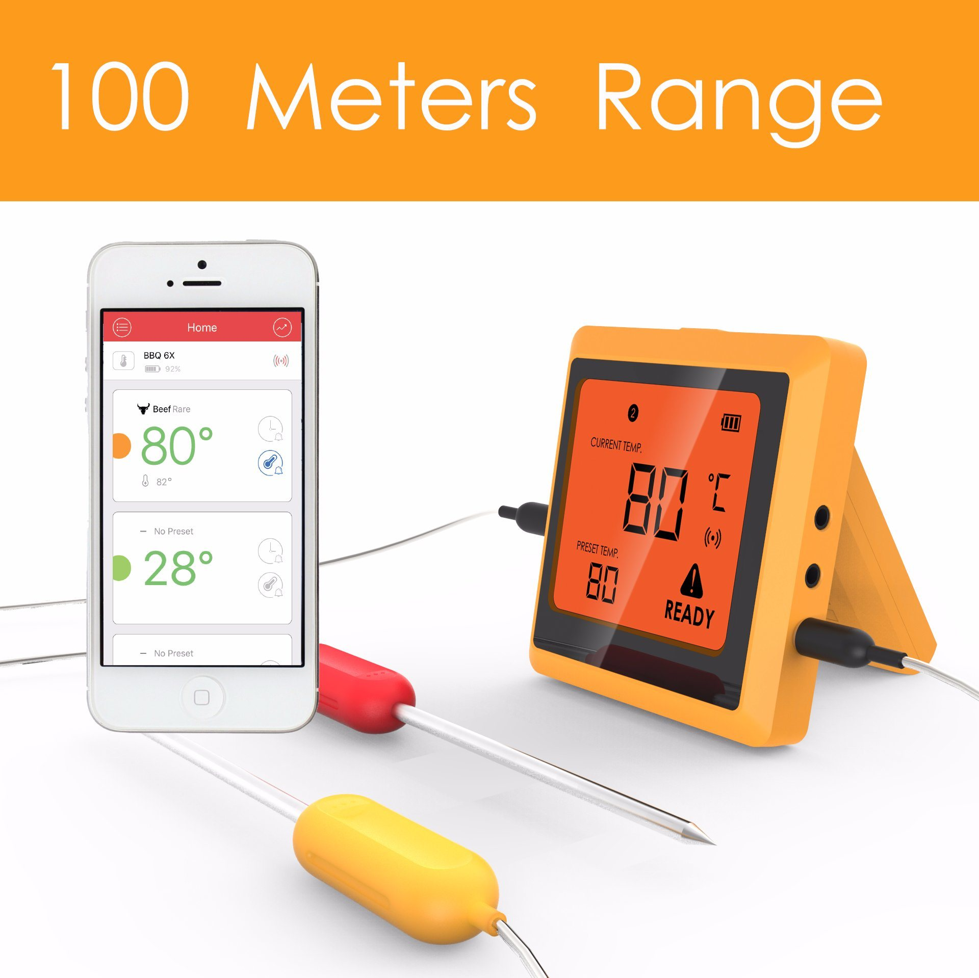 Bluetooth BBQ Grill Thermometer