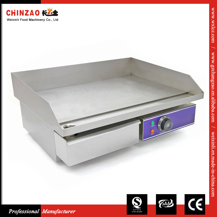 Chinzao Stainless Steel Counter Top Commercial Electric Griddle with Ce Approved