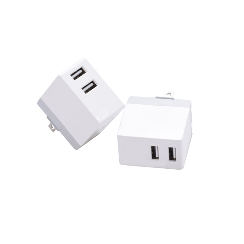Mobile Phone Accessories Manufacturer 5V2.1A Dual USB Travel Wall Charger
