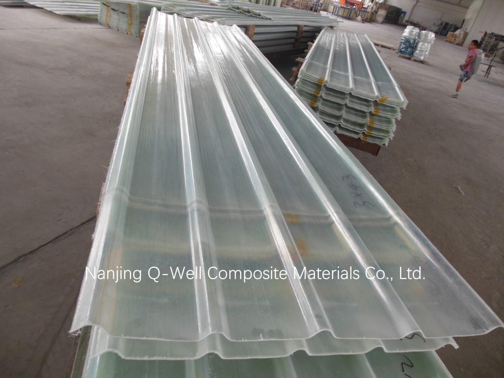 FRP Panel Corrugated Fiberglass/Transparent Fiber Glass Roofing Panels W171024