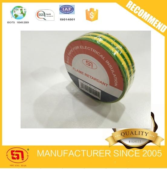 Yellow Green Stripe PVC Insulation Tape