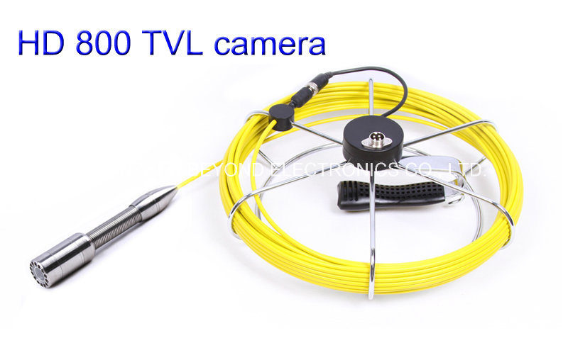 Waterproof 23mm Pipe Inspection Camera CR110-7D with 7′′ Digital LCD Screen DVR Video Recording with 20m to 100m Fiberglass Cable