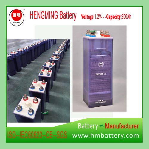Hengming Gnz300 110V300ah Pocket Type Nickel Cadmium Battery Kpm Series (Ni-CD Battery) Rechargeable Battery