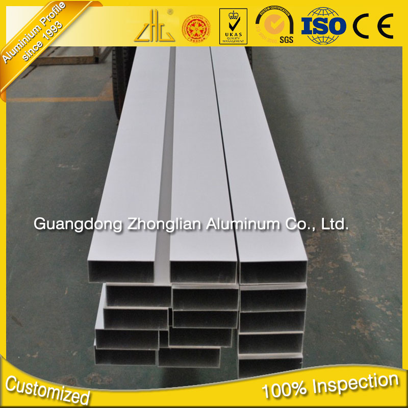 6063 T5 Anodised Aluminium Retangular Tube Aluminium Pipe