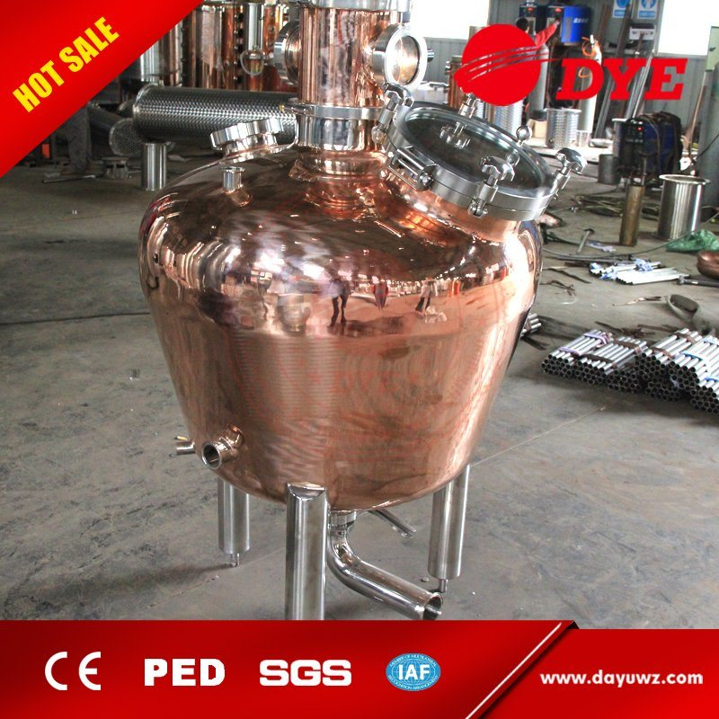 Made in China 200L 500L 1000L 1500L Red Copper Alcohol Vodka Pot Still Distiller
