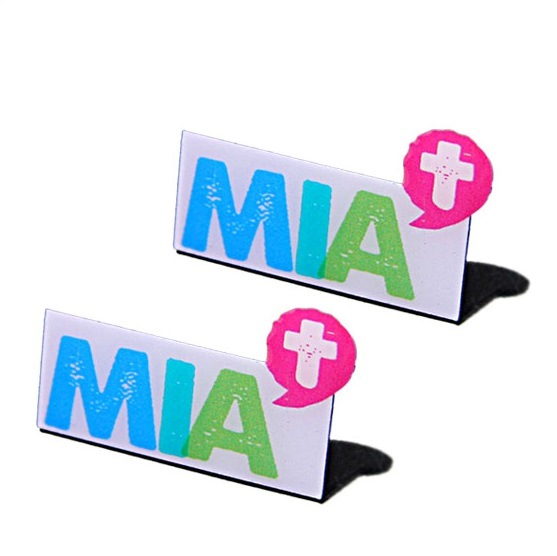 Customized Aluminum Printing Pin Badge (PB-019)
