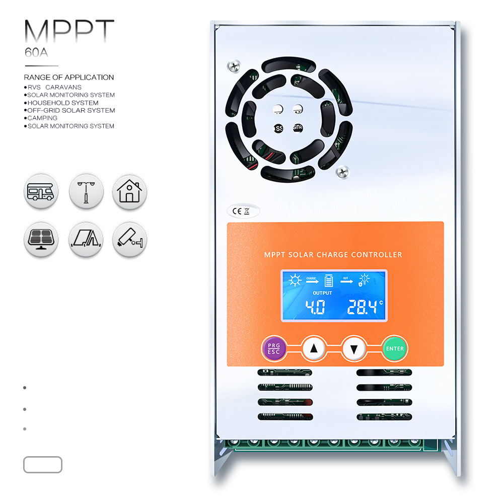 MPPT-60AMP 12V/24V/36V/48V Suit Li-Battery Solar Controller/Regulator MPPT-60A