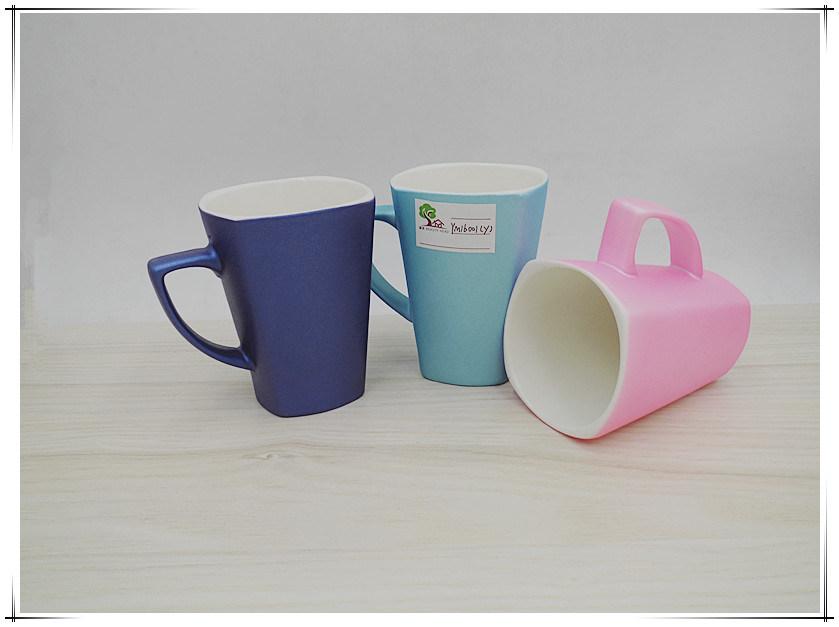 Square Mug with Matte Candy Color