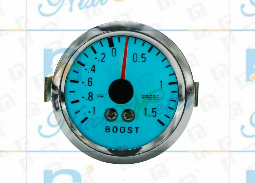 """2"""" 52mm 1-15 Boost Gauge with Cold Light"""