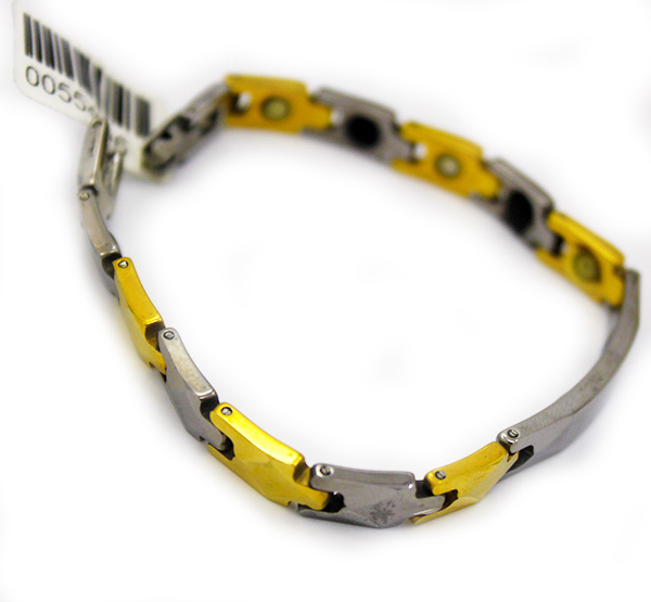 Wholesale Silver Gold Plated Health Magnetic Titanium Germanium Stainless Steel Bracelets