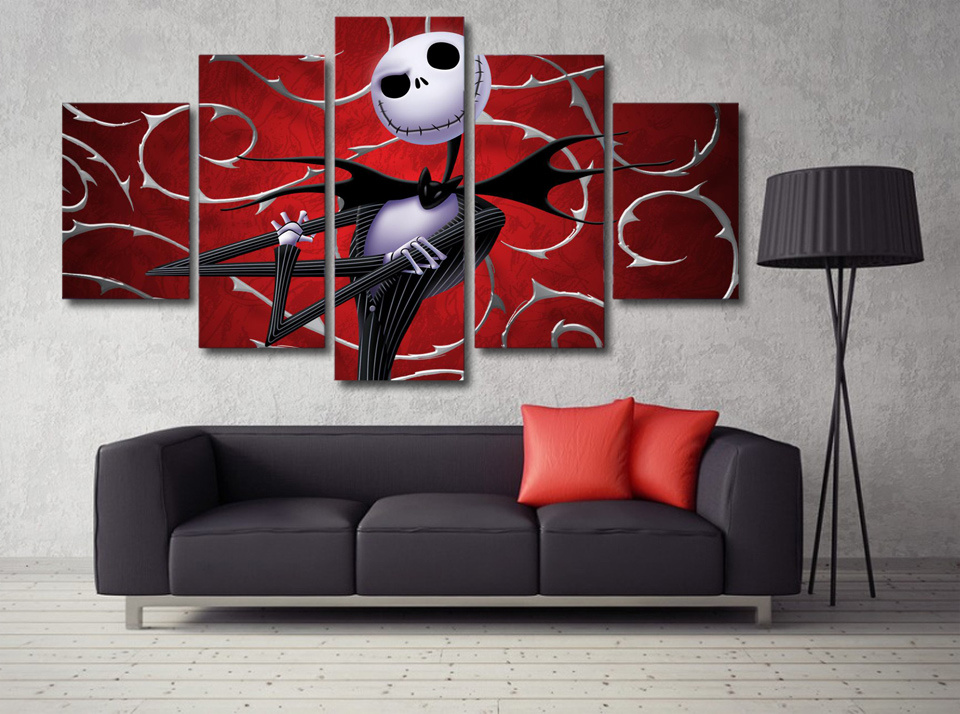 Printed Nightmare Before Christmas Painting Canvas Print Room Decor Print Picture Canvas Decoration Mc-030