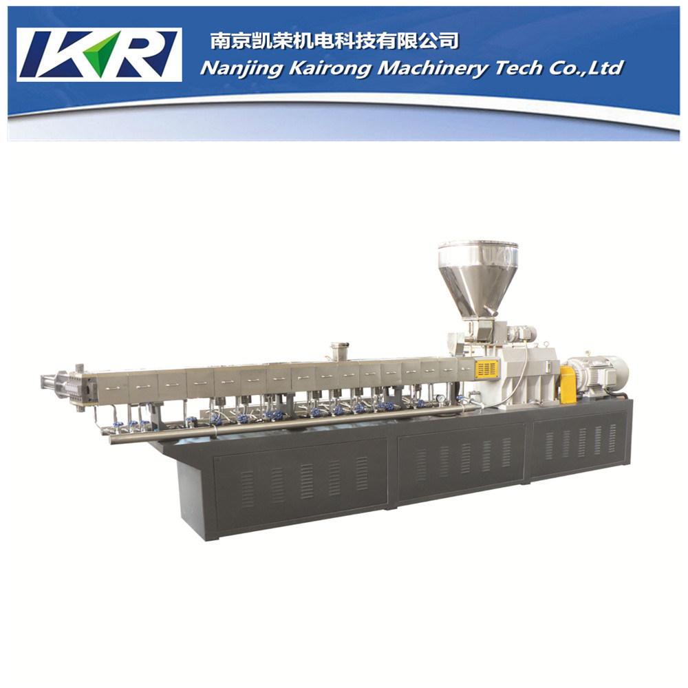 Nanjing Co-Rotating PVC Cling Film Extruder Pelletizing Machine Plastic Granulator