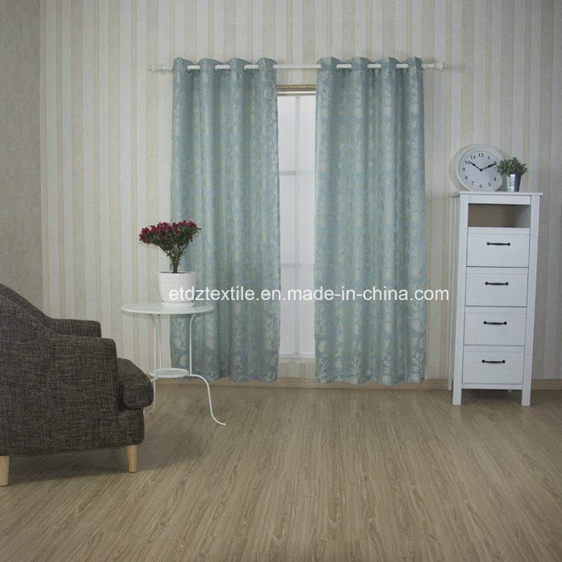 European Popular Flower Pattern Jacquard Curtain Fabric