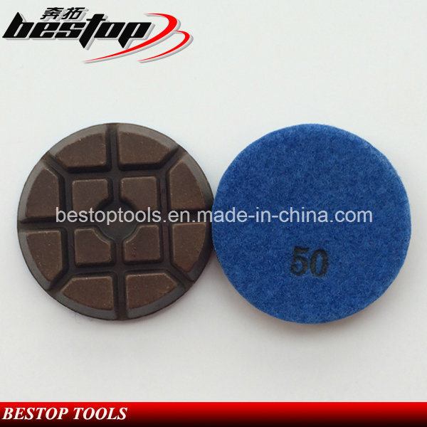 "3"" D80mm Hybrid Copper Bond Polishing Pad for Concrete"