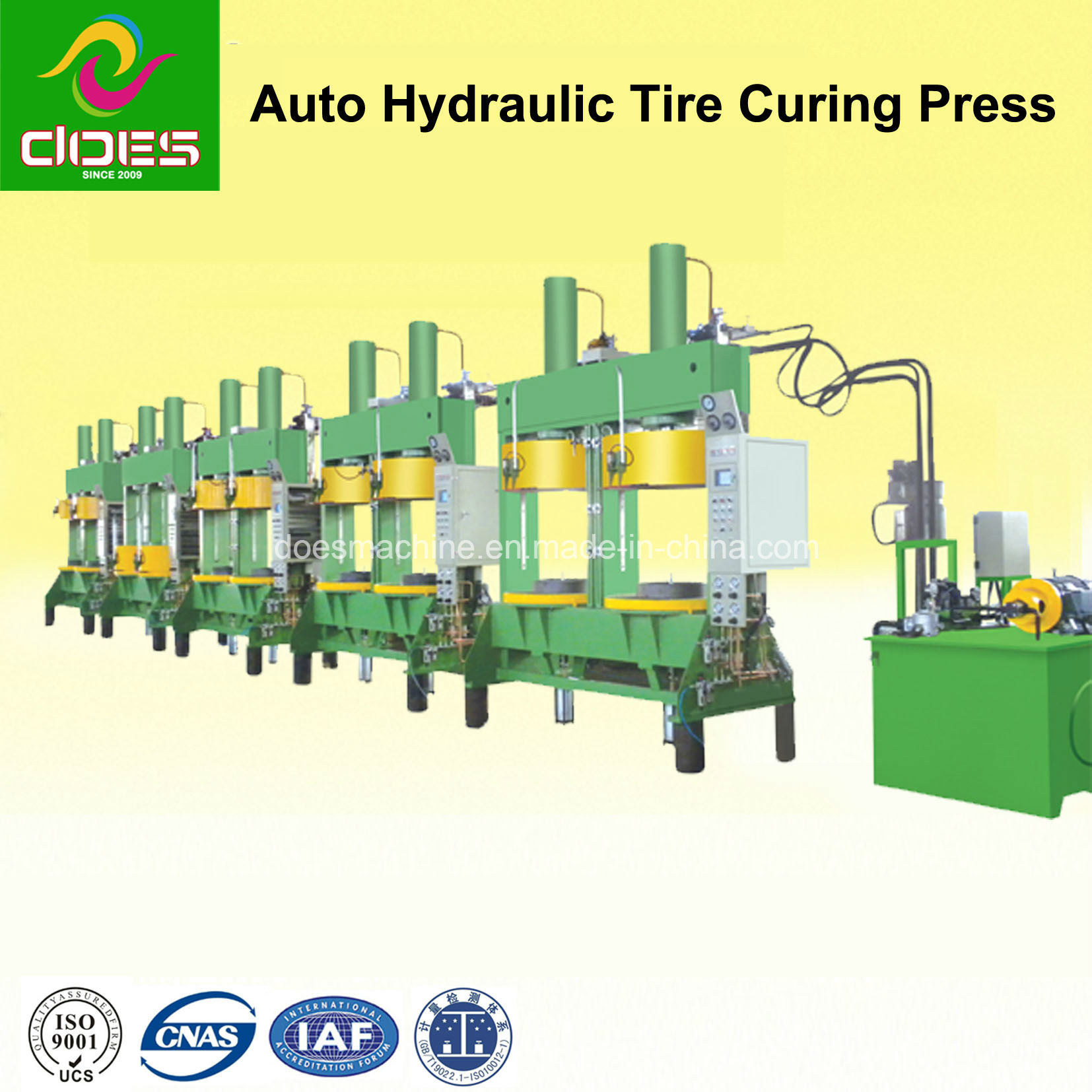 Dual-Mold Rubber Tire Curing Press Machine with Automatic Hydraulic