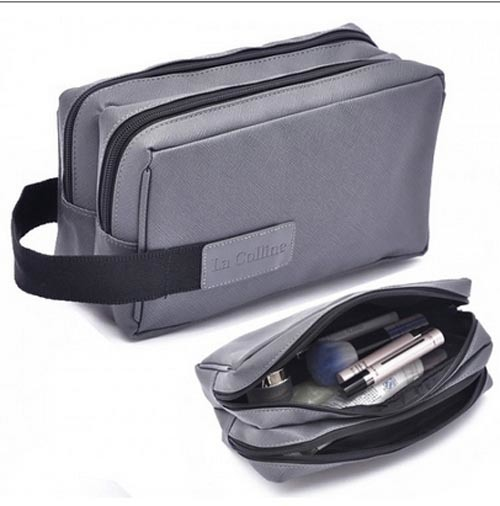 Mens Hotel Hanging Toiletry Kit for Travel